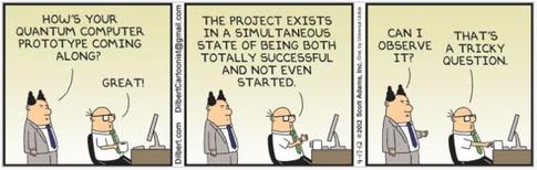 Dilbert-on-quantum-computing